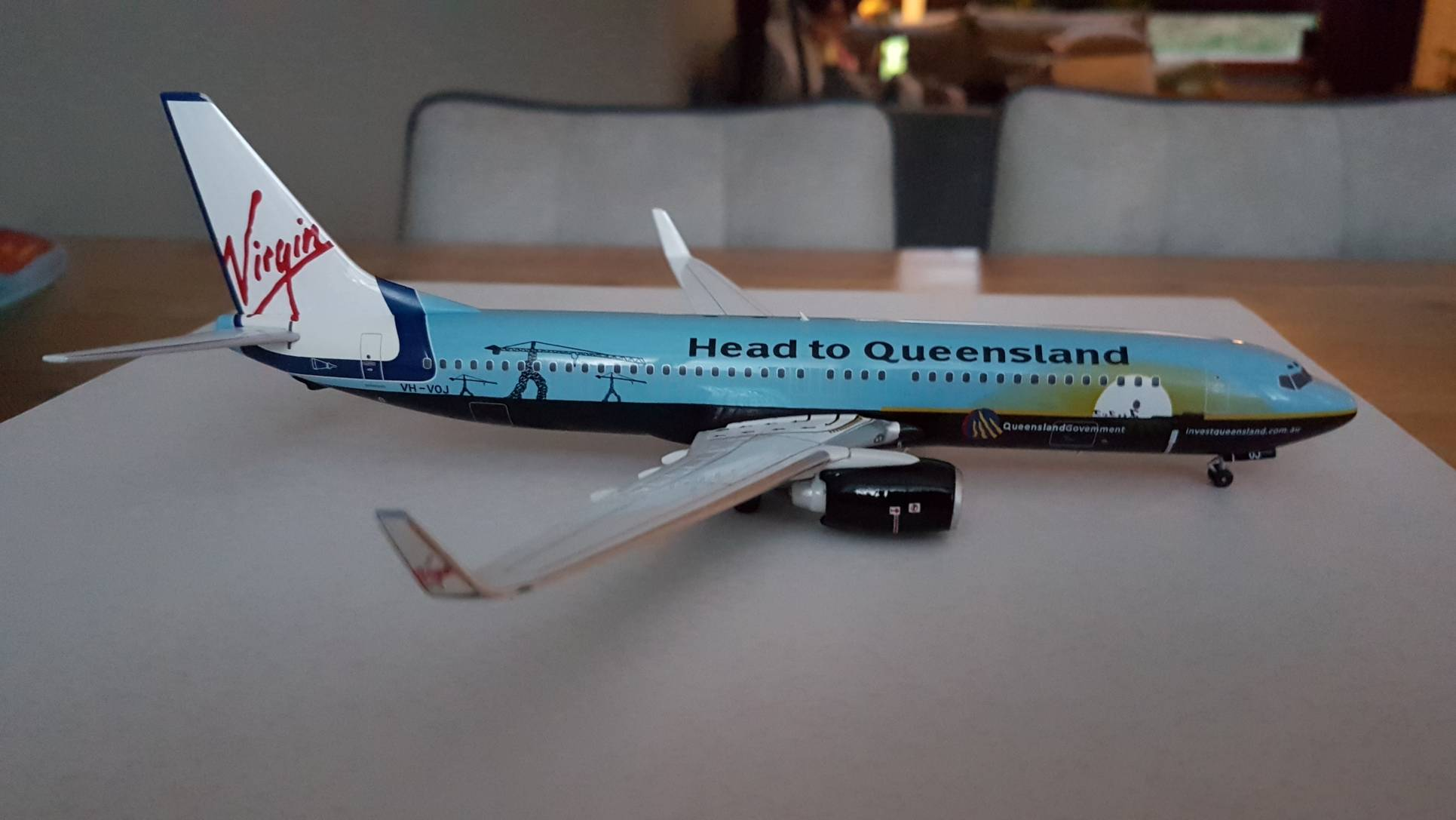 Blue Box 1:200 Boeing 737-800 Virgin Blue Airlines 'Head to Queensland' VH-VOJ €90