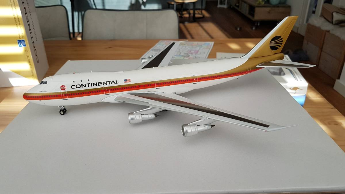 "Inflight200 Boeing 747-100 Continental Meatball ""Black"" €139"
