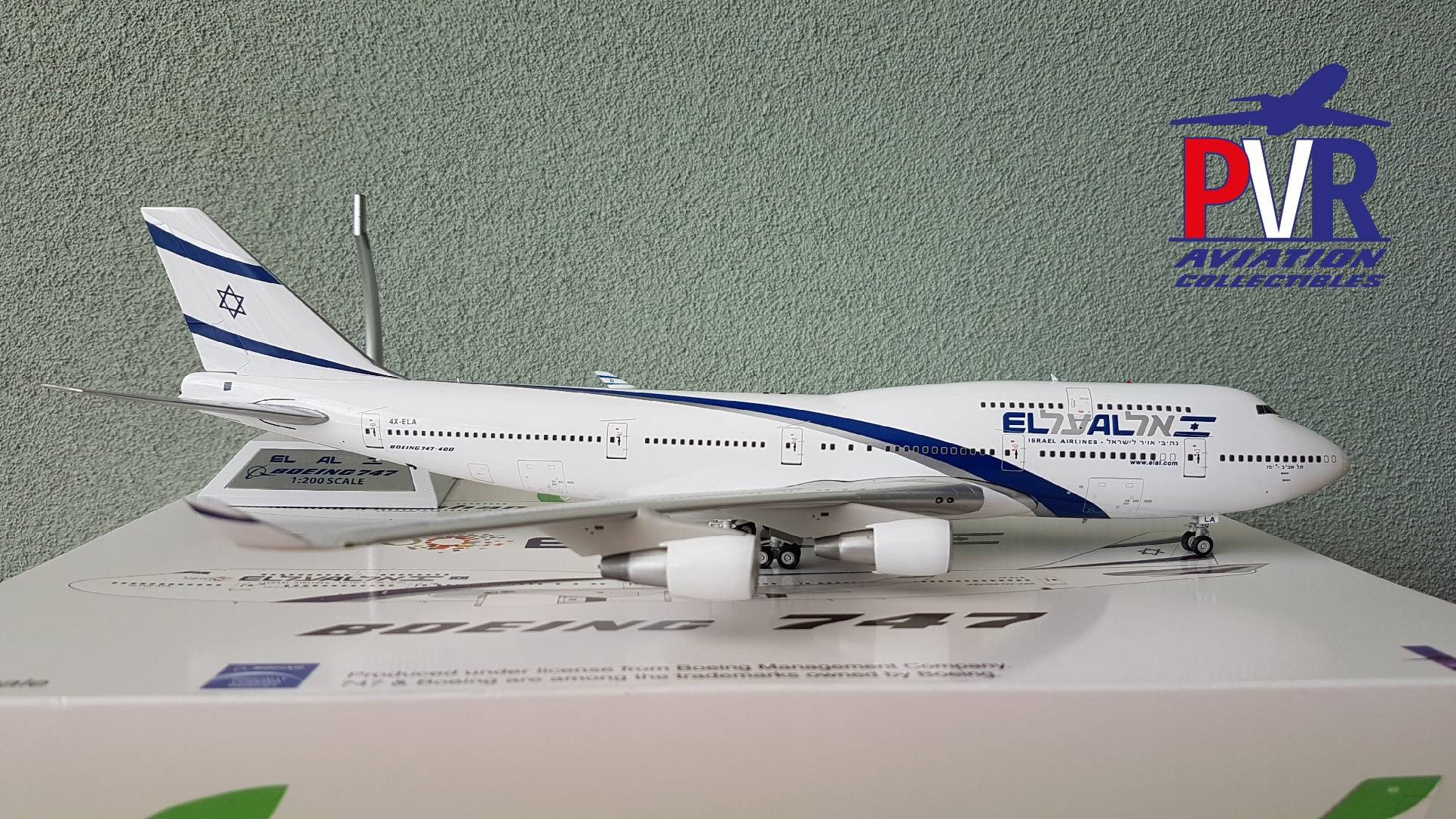 Inflight200 Boeing 747-400 EL AL '100 years' 4X-ELA from €125 now €99!